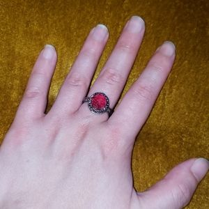 Jewelry - Red Bauble Ring